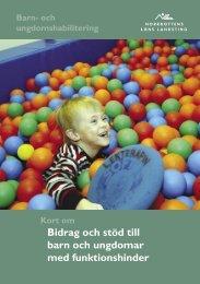 Bidrag och stöd till barn och ungdomar med funktionshinder