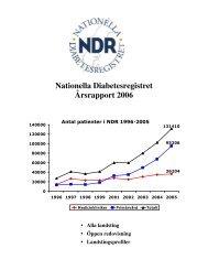 Nationella Diabetesregistret Årsrapport 2006 - Norrbottens läns ...