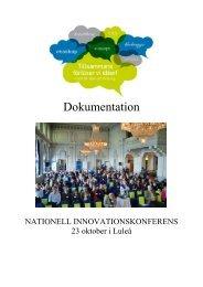 Läs mer om föreläsarnas presentationer (pdf) - Norrbottens läns ...