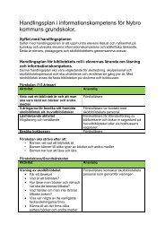 Handlingsplan i informationskompetens för Nybro - Nybro kommun