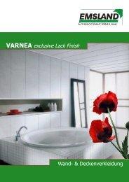 VARNEA exclusive Lack Finish - EMSLAND-PANEELE