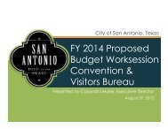 Convention and Visitors Bureau - The City of San Antonio