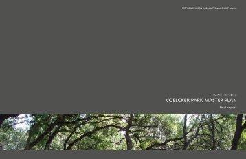 VOELCKER PARK MASTER PLAN - The City of San Antonio