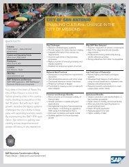 SAP - Business Transformation Study - The City of San Antonio
