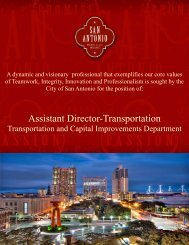 Transportation AD Job Description - The City of San Antonio