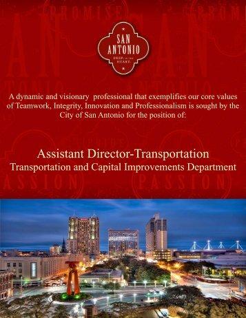Transportation AD Job Description - The City of San Antonio