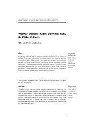Weimar Dönemi Kadın Devrimci Ruhu ile Käthe ... - Gazi Üniversitesi