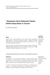 Günümüzün Görsel Kültüründe Tüketici Estetik Anlayış