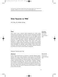 Ürün Tasarımı ve TRIZ - Gazi Üniversitesi