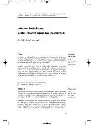 İnternet Portallarının Grafik Tasarım Açısından İncelenmesi