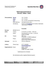 Rettungsschwimmkurs Bronze / Silber / Gold - Ausbildung BRK ...