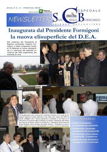 Anno 3, n. 2 - febbraio 2010 - Ospedale San Carlo Borromeo