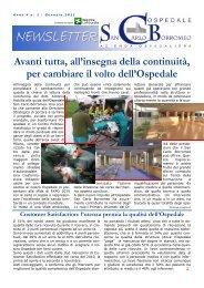 Anno 4, n. 1 - gennaio 2011 - Ospedale San Carlo Borromeo