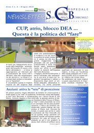 Anno 3, n. 6 - giugno 2010 - Ospedale San Carlo Borromeo