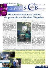Anno 3, n. 11 - dicembre 2010 - Ospedale San Carlo Borromeo