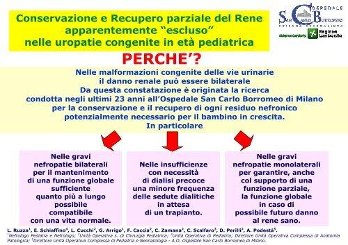 Scarica il poster dello studio - Ospedale San Carlo Borromeo