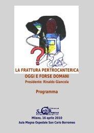 locandina informativa - Ospedale San Carlo Borromeo