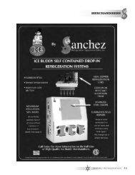 MErChANdISErS - Sanchez Refrigeration Equipment Sales, Inc.
