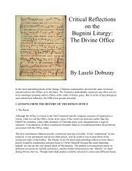 Critical Reflections on the Bugnini Liturgy - Church Music ...