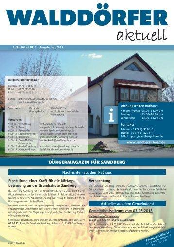 Ausgabe Juli 2013 - Gemeinde Sandberg