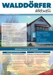 Ausgabe April 2013 - Gemeinde Sandberg