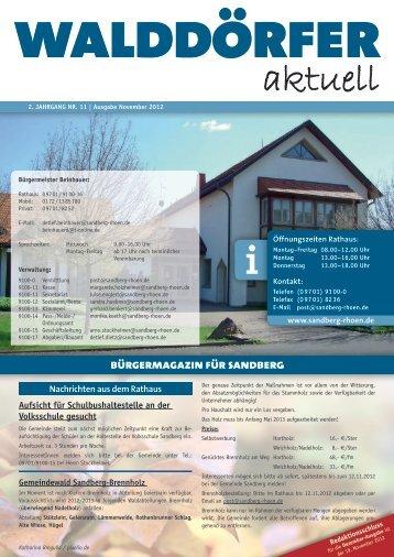 Ausgabe November 2012 - Gemeinde Sandberg