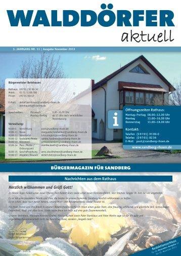 Ausgabe Nobember 2013 - Gemeinde Sandberg