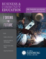 july - sepTember 2013 sChedule 13 - Carl Sandburg College