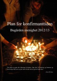 Konfirmantplan Bugården 2012-13 - Sandefjord kirkelige fellesråd ...