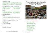 Presentasjon av konfirmanter - Sandefjord kirkelige fellesråd