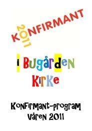 Konfirmant-program Våren 2011 - Sandefjord kirkelige fellesråd