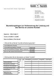 Beurteilungsbogen zur Verbesserung der Leistung und des Service ...