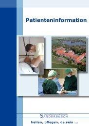 Patienteninformation - Nordwest Krankenhaus Sanderbusch