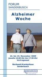 Alzheimer Woche - Nordwest Krankenhaus Sanderbusch
