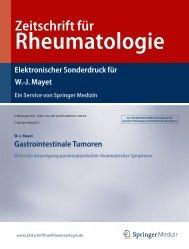 Gastrointestinale Tumoren Klinische Ausprägung ...