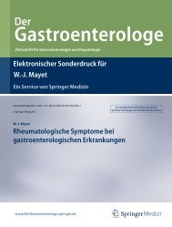 Rheumatologische Symptome bei gastroenterologischen ...