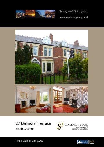27 Balmoral Terrace - Sanderson Young