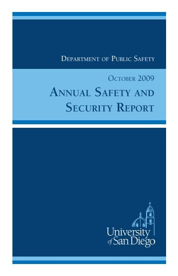 ANNUAL SAFETY AND SECURITY REPORT - University of San Diego