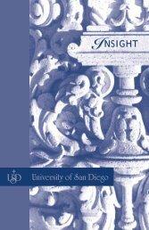 USD-88 Insight Brochure.revise - University of San Diego
