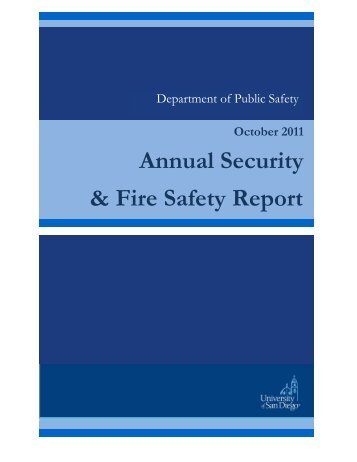 Annual Security & Fire Safety Report - University of San Diego