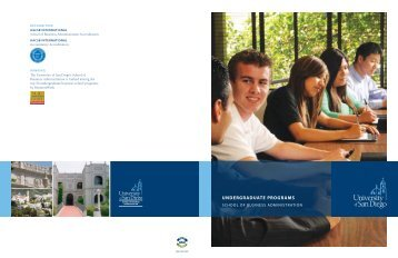 UNDERGRADUATE PROGRAMS - University of San Diego