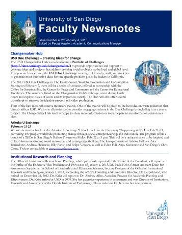 February 4, 2013 - University of San Diego