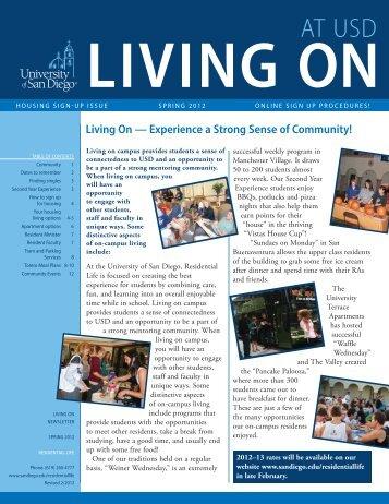 Living On Newsletter - University of San Diego