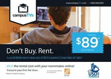 Rent a TV - University of San Diego