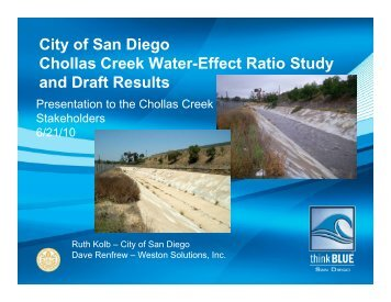Water Effects Ratio Study - City of San Diego