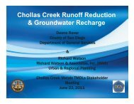 Chollas Creek Runoff Reduction & Groundwater ... - City of San Diego