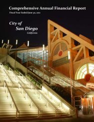 CAFR - Fiscal Year Ended June 30, 2011 - City of San Diego
