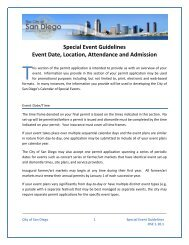 Event Date, Location, Attendance - City of San Diego