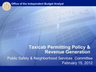 Taxicab Permitting Policy & Revenue Generation - City of San Diego