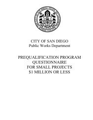 pre-qualification program questionnaire for small ... - City of San Diego